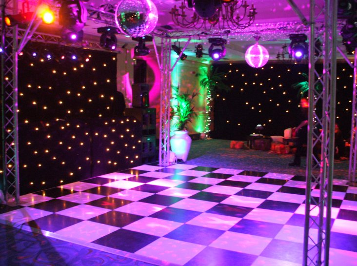 Black and White Dance Floors