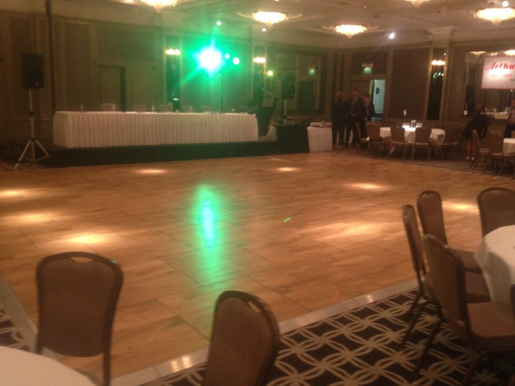 Oak Parquet Dance Flooring Hire in London