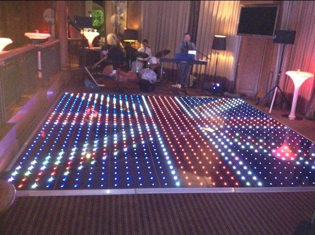 Colour Changing Pixel Dance Floor Hire