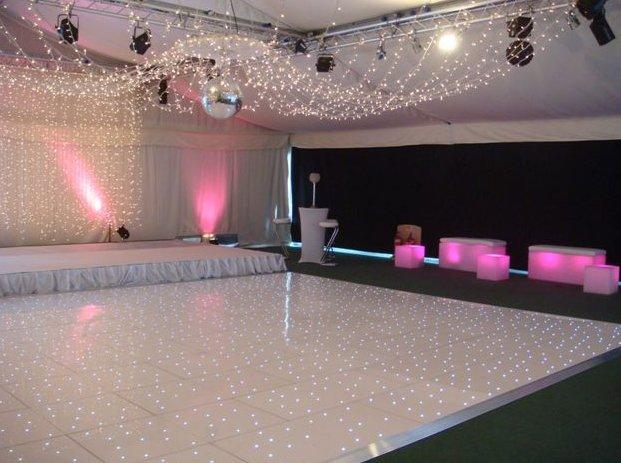 London White LED Starlit Dance Floor Hire